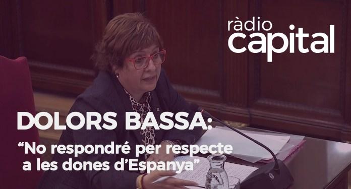 Dolors Bassa es nega a respondre a VOX al Judici del Procés
