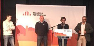 Montse Bassa durant el seu discurs al Congrés Regional ERC a Girona