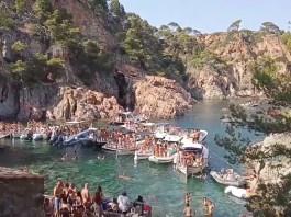 Festa marítima d'aquest dissabte a la cala d'en Massoni | Imatge de Mariona Roca
