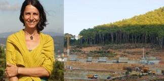 Lydia Chaparro, portaveu de Salvem la Costa de Begur