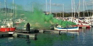 Simulacre d'incendi al Port de Sant Feliu de Guíxols | Imatge de Ports de la Generalitat