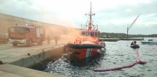Simulacre d'incendi al Port Esportiu de Palamós | Imatge de Ports de la Generalitat.jpg