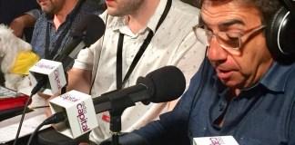 Francesc Sánchez i Carcassés a la retransmissió de la Cantada d'Havaneres de Calella de Palafrugell a Ràdio Capital