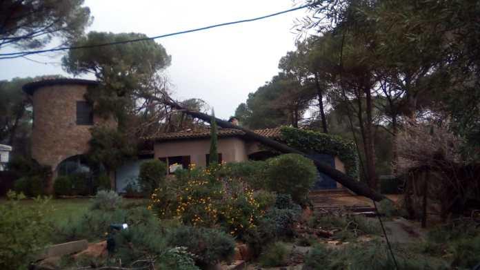 Santa Cristina d'Aro durant el temporal Glòria