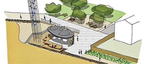 Esbòs del que serà la zona dedicada al memorial