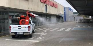 Desinfecció a Palamós per evitar contagis del coronavirus | Imatge de l'Ajuntament de Palamós