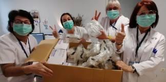 Mascaretes donades al CAP de Palafrugell per l'IES Baix Empordà   Imatge del SSIBE