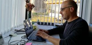 Xavier Pereras, teletreball des de casa per l'Ajuntament de Palafrugell | Imatge de l'Ajuntament