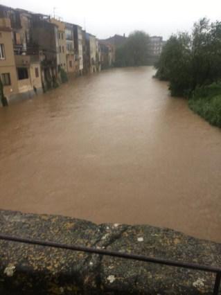 temporal abril 2020 inundacio riu daró la bisbal