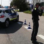 La Policia Local de Palamós en un control durant l'estat d'alarma pel coronavirus | Imatge de l'Ajuntament