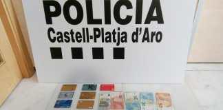 Estafa de targetes bancàries a Castell-Platja d'Aro - Imatge de la Policia