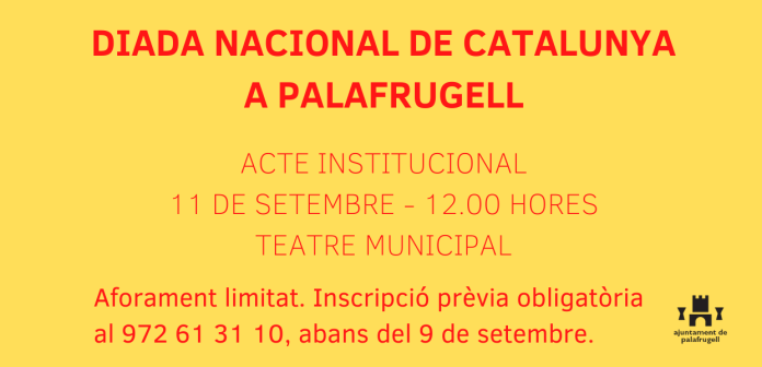 cartell Diada Nacional de Catalunya 2020 Palafrugell