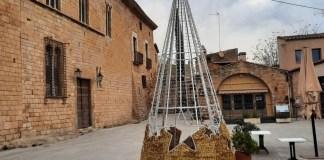 L'arbre de Nadal de Forallac que es podrà reutilizar cada any
