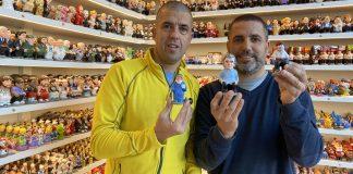 Marc Alos i Sergi Alos amb els caganers més venuts aquest Nadal 2020 | Imatge de Caganer.com