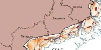 Zona de tancament a la pesca, corresponent a 18 àrees del litor