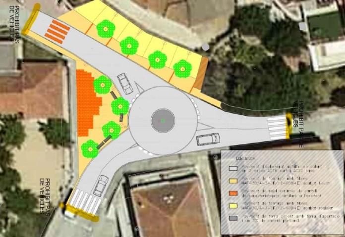 Mapa dels talls de trànsit a Cruïlles per la reforma de l'entorn de l'escola
