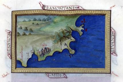 Un dels mapes més antics de l'Empordà, del segle XVI.