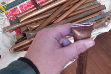 Almonaster la Real | La Guardia Civil detiene a dos varones por el robo de tuberías de cobre en un hotel de la localidad