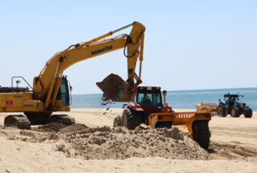 Empiezan los trabajos de reposición de arena en Nuevo Portil