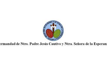 La Hdad. de Ntro. Padre Jesús Cautivo y Mª Stma. de la Esperanza preparan un sorteo solidario