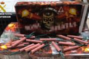 La Guardia Civil  interviene 1300 artificios pirotécnicos
