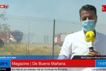 Incendio en un asentamiento de chabolas en Lepe