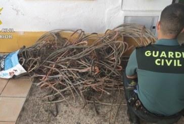 Riotinto   La Guardia Civil ha procedido a la detención de una persona por su supuesta implicación en varios delitos contra el patrimonio por robo de cables