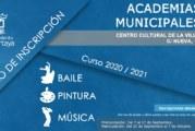 Cartaya abre el periodo de preinscripción para las Academias Municipales de Cultura, que se desarrollaran con todas las garantías de seguridad