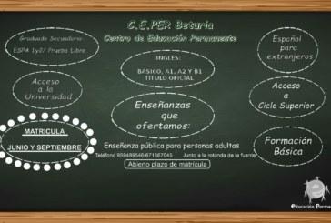 De Buena Mañana | El C.E.PER Beturia abre el plazo de matriculas