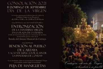 Entronización de la Virgen de Consolación, acompañada por el Ateneo Musical Cartayero