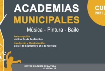 Abre el plazo de inscripción de las academias municipales de Cultura para el próximo curso