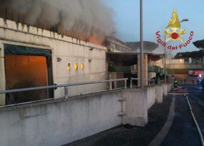 Cassinate – Incendio TMB Salario: parte dei rifiuti romani smaltita a Colfelice