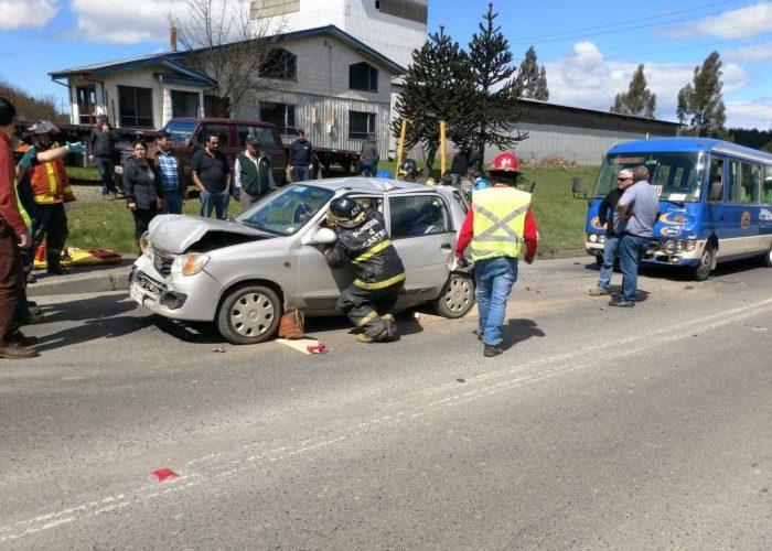 Castro: accidente de tránsito se produjo en ruta 5 Norte.