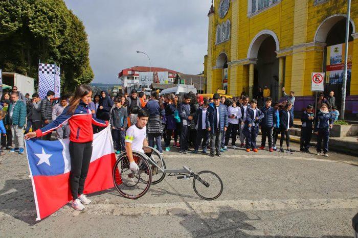 Castro: comenzó III Vuelta Ciclista a Chiloé.