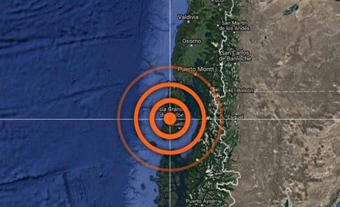 Chiloé: sismo de mediana intensidad se registró en la provincia.