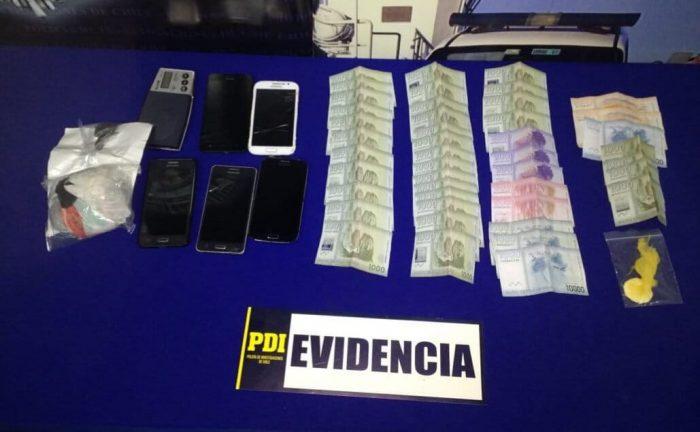 Ancud: detienen a cuatro personas por delito de tráfico de drogas.