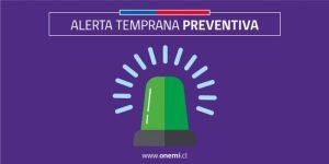 Regional: se cancela alerta temprana preventiva por altas temperaturas.
