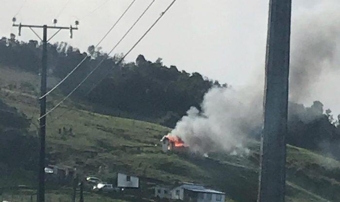 Castro: incendio afectó casa habitación en sector Gamboa Alto.