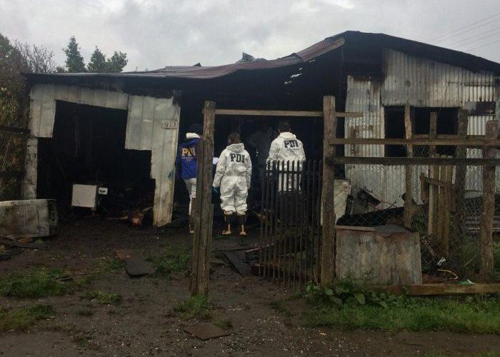 Ancud: persona perdió la vida en un incendio.