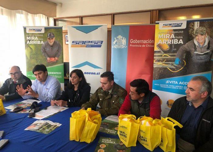 Castro: empresa eléctrica lanza campaña de autocuidado.