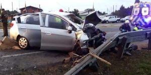 Calbuco: persecución policial originó accidente que dejó una víctima fatal.