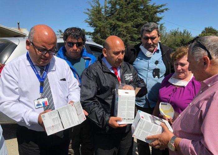 Ancud: autoridades preocupadas por la salud de las personas a raíz de incendios forestales.