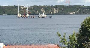 Chiloé: Consejeros Regionales realizan visita a obras puente Canal de Chacao.
