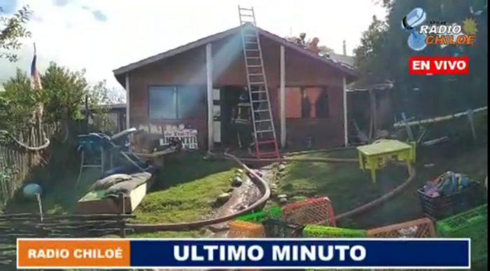 Castro: incendio afectó a jardín infantil.