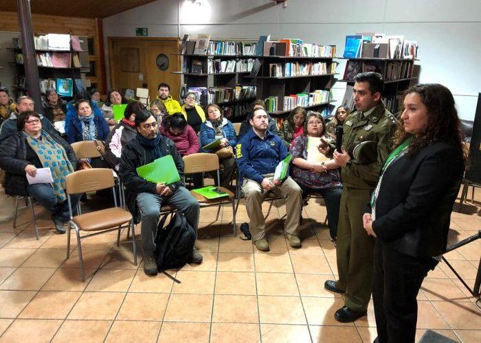 Castro: Dirección de Seguridad Pública realizó encuentro con dirigentes comunitarios