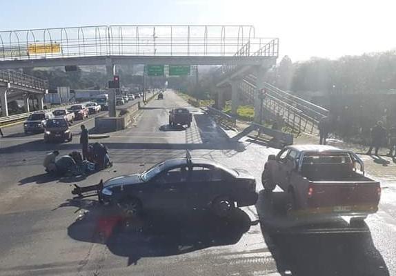 Castro: en estado grave quedó motociclista tras protagonizar accidente de tránsito.