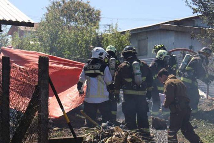 Calbuco: una persona falleció calcinada en voraz incendio.