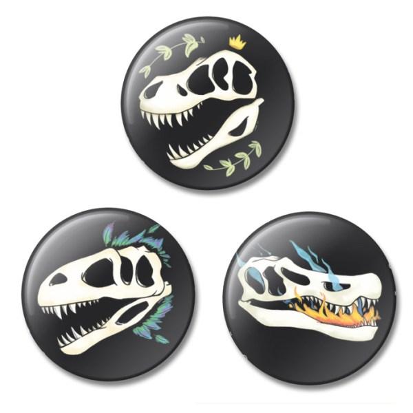 Dino Skull Buttons