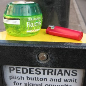 Push button for Traffic Island Hairdresser