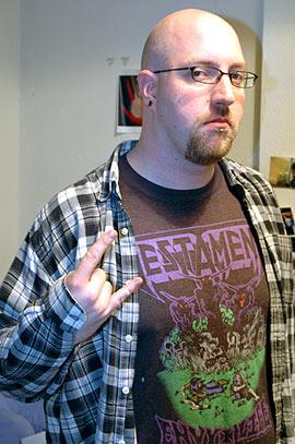 Scott adopts Serious Metal Pose #1